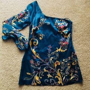 Arden B Silk One shoulder Dress